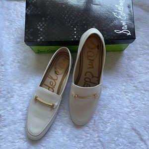 Sam Edelman Lior, White Leather Loafers